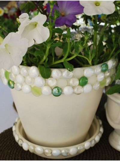 diy jeweled planter