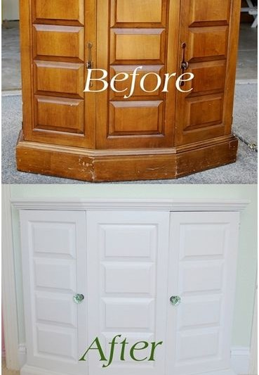 thrift store cabinet before after
