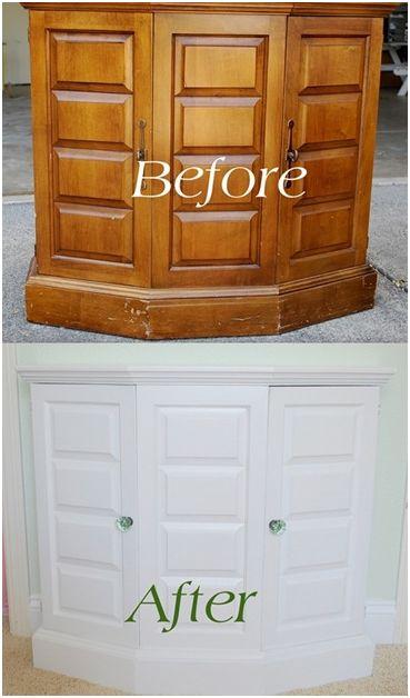diy painted thrift store cabinet centsational girl. Black Bedroom Furniture Sets. Home Design Ideas