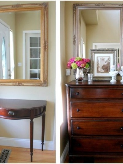 thrift store highboy dresser