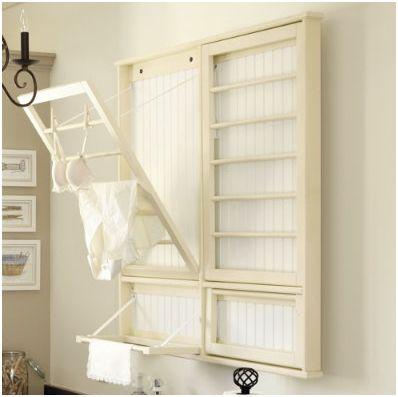Diy laundry room drying rack centsational girl for Diy clothesline design