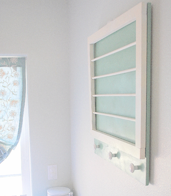 diy laundry room drying rack centsational girl. Black Bedroom Furniture Sets. Home Design Ideas