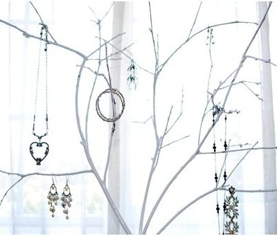 jewelry tree closeup