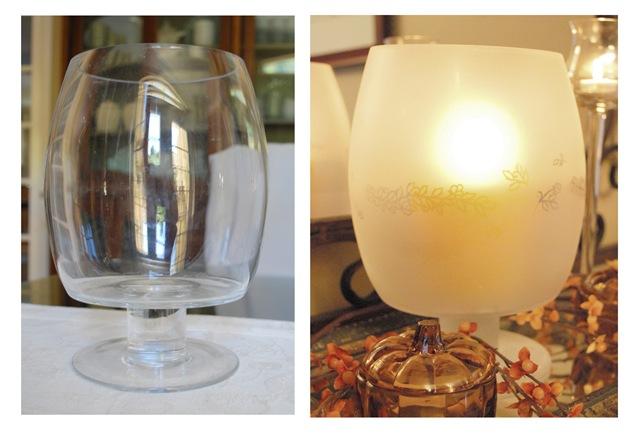 then i transformed this vase into an elegant candleholder. Black Bedroom Furniture Sets. Home Design Ideas