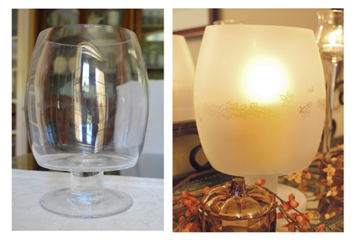 before and after frosted glass