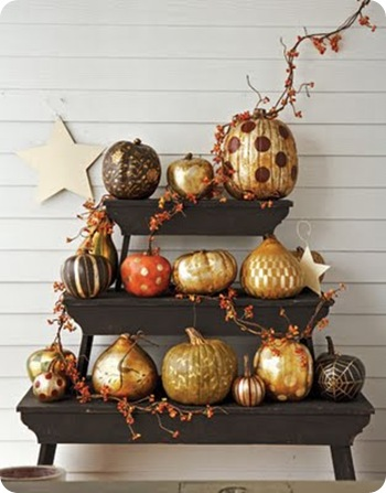 country living guilded pumpkins