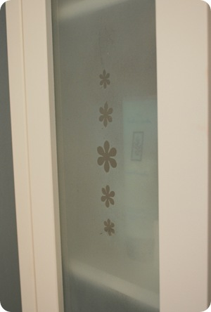 frosted glass cabinet door