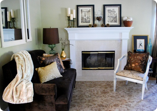 living room tones and textures