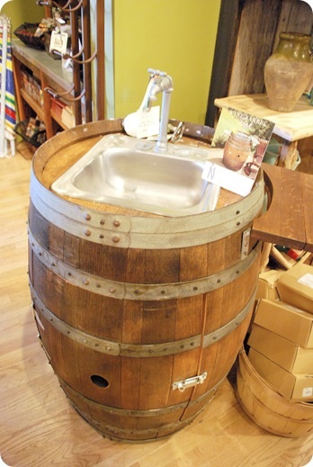 napastyle wine barrel sink