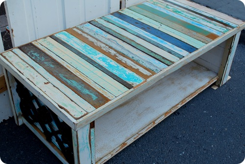 slatted coffee table