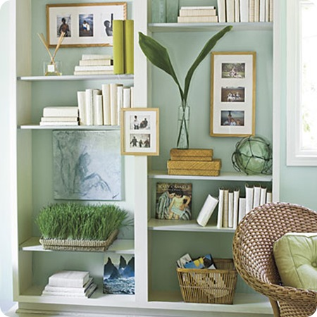 southern living bookcase