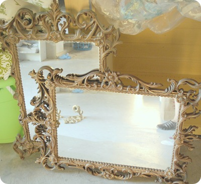 thrift store mirrors before