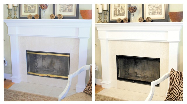 Spray Paint Gold Fireplace Doors Fireplace Design Ideas