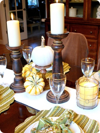 candlesticks on table