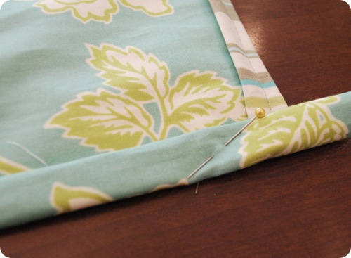 double fold top of apron