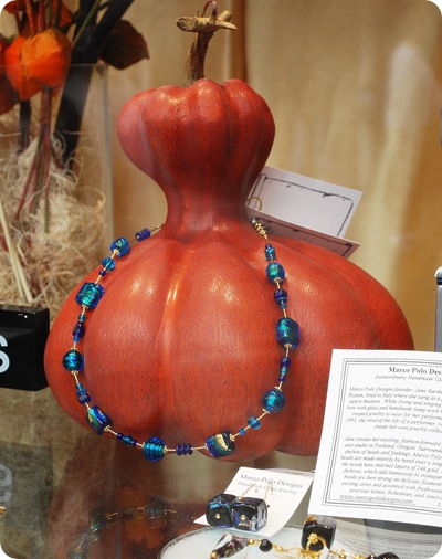 gourd with necklace
