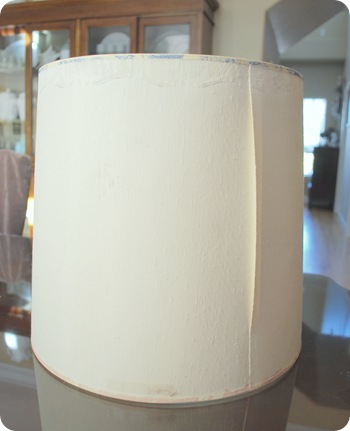 old lampshade before