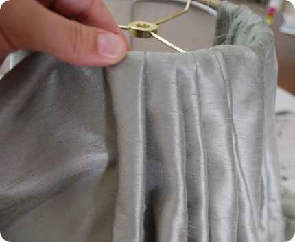 pinch pleat with glue