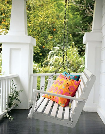 Definition of home centsational girl for Easy porch swing