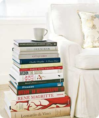 real simple stack of books