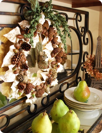 woodland wreath in dining