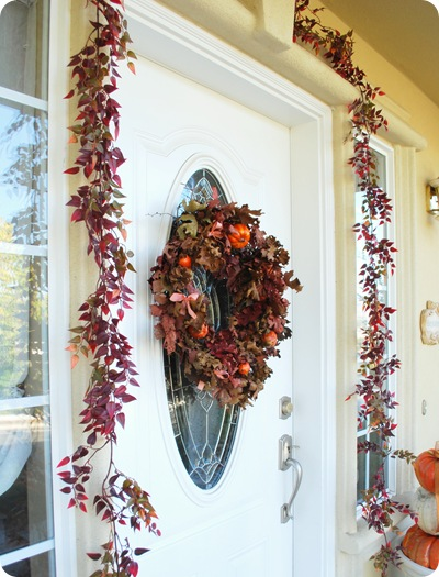 wraparound leaves and wreath