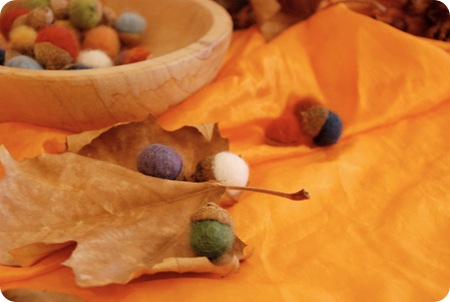 alexis acorns with felt