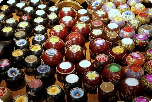 china town flower candles
