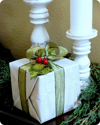 fabric wrapped present