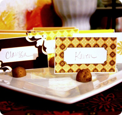 harvest placecards