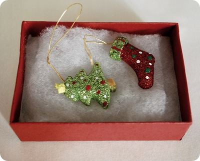 ornaments in box