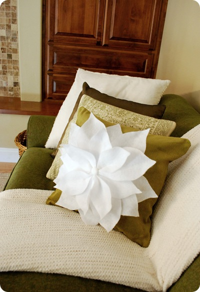 pillow in family room
