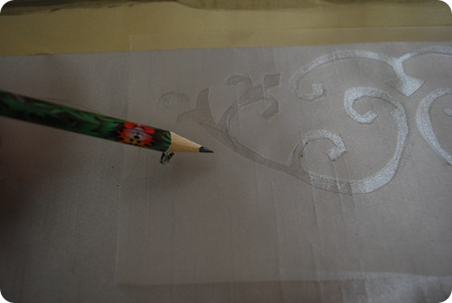 stencil and pencil