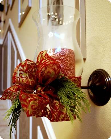 christmas wall sconce