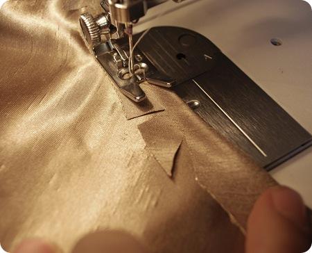 cut slits in fabric