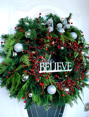 Welcome home wreath centsational girl - Admirable christmas wreath decorating ideas to welcome the december ...
