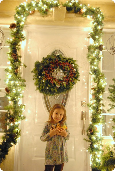 front porch with daughter