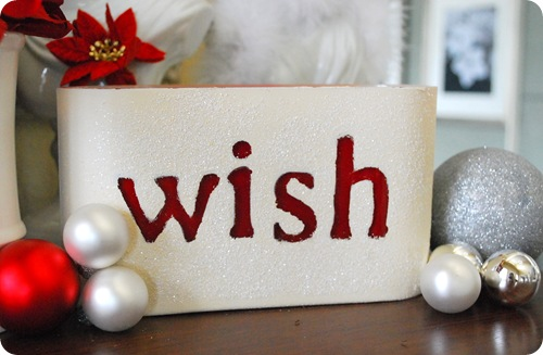glitter wish candle