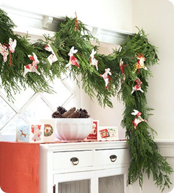 last years cards garland bhg