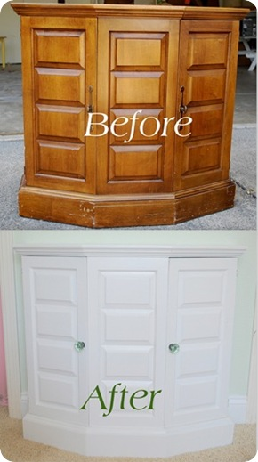 painted cabinet before and after