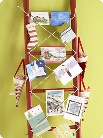 painted ladder card display bhg