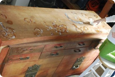 salvaged dresser before