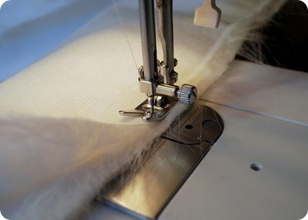 sew strips of fur