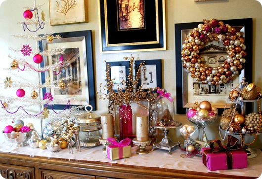 silver and gold sideboard
