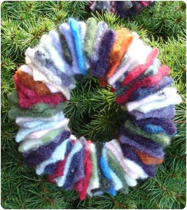 wool felt wreath