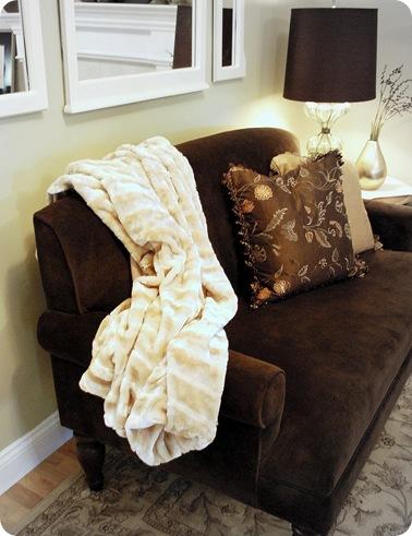 cg living room faux fur