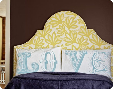 country living bright headboard