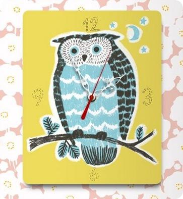 decoylab owl clock