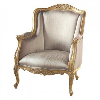 gold gilt silk chair notonhighstreet