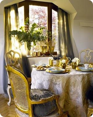 gold leaf chairs decorology nuevo estilo